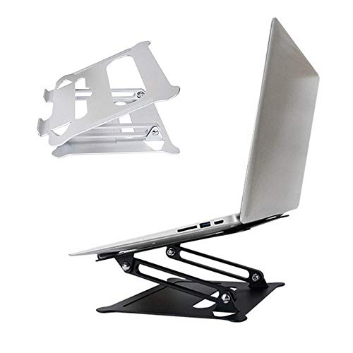 COCOCO Laptopständer Universal Laptop Tablet Stand Faltbarer Verstellbarer Halter Für rutschfeste Kühlstützen Für MacBook Air Pro 13 15-Silber