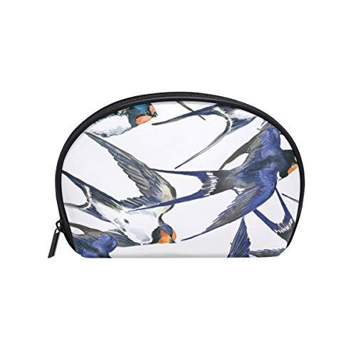 Sac cosmétique avec fermeture éclair Oiseau Guide des animaux Embrayage Sac de rangement de voyage Sac de maquillage Sac de rangement Organisateur pour les femmes