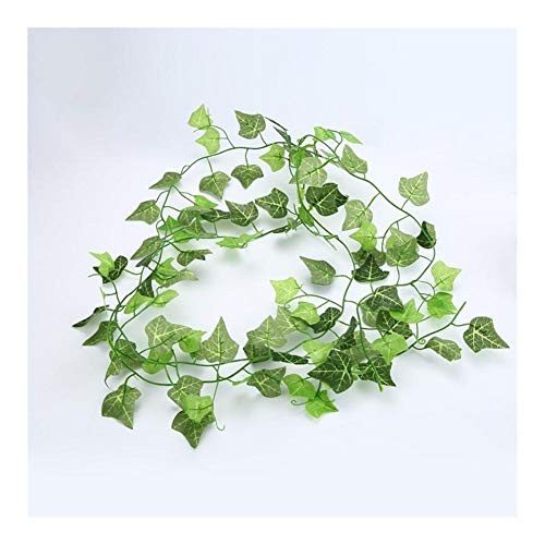 Datouya Hanging Artificial Green Leaf Garland Plant Vine Leaves Plastic Fake Plants Wedding Party Supplies Garden Home Decoration for Home, Office and Bathroom Decoration (Color : Green)