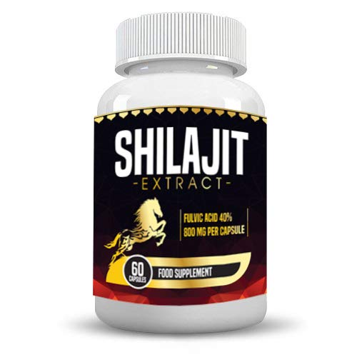 Shilajit Organic 60 Extract Vegan Capsules 1600 mg Highest Strength Premium Quality Capsules one Month Supply - 100% Natural and Organic (60 Capsules)