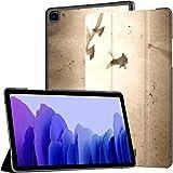 Funda para Samsung Galaxy Tab A7 Tableta de 10,4 Pulgadas 2020 (sm-t500 / t505 / t507), Flying Dove Group, Papel Antiguo de Grunge, Soporte de múltiples ángulos, con activación/suspensión automátic