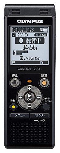 OLYMPUS ICレコーダー VoiceTrek 8GB MicroSD対応 V-843 ピアノブラック V-843 BLK