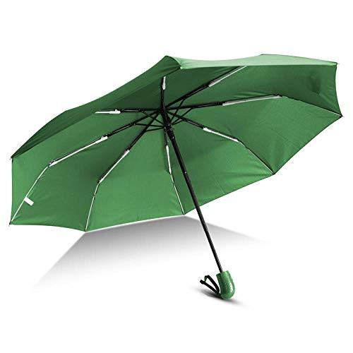 Parasol Parapluie Parapluie Pliant Automatique Pluie Femmes Hommes Mini Lumière Durable Coupe-Vent Coloré Parapluies Voyage Parasol Vert