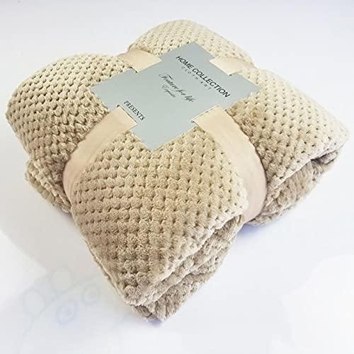 JINGQIAO Winter-weiche warme Flanell-Decken für Betten, einfarbig, rosa, blau, Korallen-Fleece, Überwurf für Sofa, Tagesdecke, Plaiddecken
