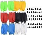 ZYGY 48PCS hélices y Pernos de Colores para dji Mavic Mini Drone fotografía aérea Quadcopter...