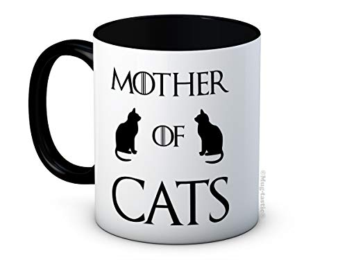 Mother of Cats - Game of Thrones Parodia - Taza de café de cerámica de alta calidad