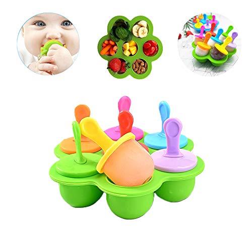 Daity 7 Eisformen 7 Silikon Eislutscher EIS am Stiel EIS am Stiel Set Popsicle Formen Set