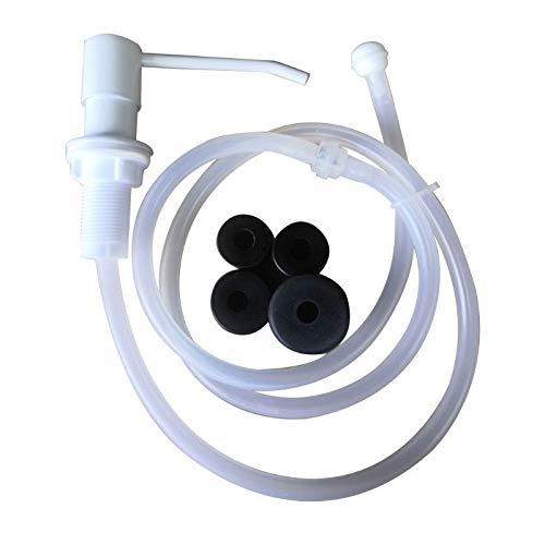 Meet's shop Dispensador de loción y jabón 1 set de dispensador de jabón líquido de acero inoxidable, bomba de extensión de tubo accesorios de baño (color 11AG200730 BG)