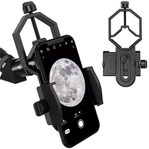 Xbeast Teleskophalterung Adapterhalterung Mikroskop Kompatibel mit iPhone/Samsung/Sony, Teleskop/Mikroskop/Ferngläser Telefonhalterung Adapter