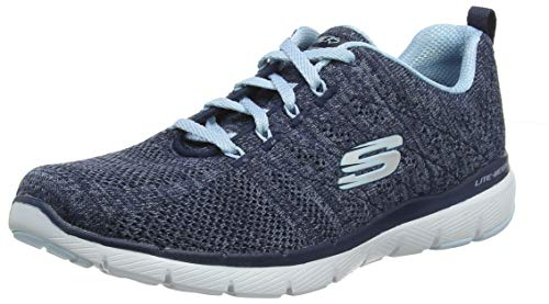 Skechers Women's Flex Appeal 3.0 high Tides Trainers, Blue (Navy Knit MeshBlue Trim Nvbl), 5 UK (38 EU)