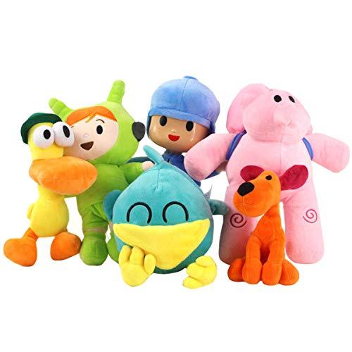 Pocoyo Elly Pato Loula - Juego de 6 figuras de peluche para muñecos blandos