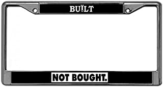 DONOTDO Resistant to The Elements License Plate Frame Tag Holder Chrome Plate Frame Automotive License Plate Frame Built Not Bought License Plate Aluminum Frame Fits US Standard Plates