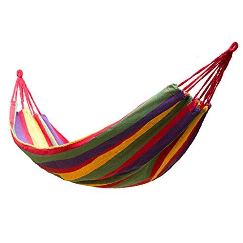 XY&CF Camping hamac Toile Bande balançoire lit Voyage en Plein air Jardin Plage Loisirs hamac Ultra léger Portable Sac 190 * 80 cm (Couleur : A)