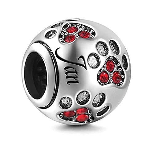Pandora 925 plata esterlina color plata piedra de nacimiento encanto ajuste Original brazalete de moda para mujeres joyería de amor Januarydiy