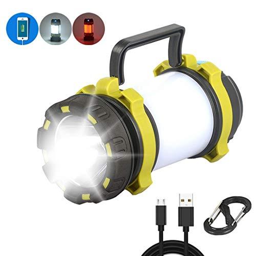 Camping Lanterns, Multifunctional Usb Rechargeable Camping Lights, Portable Long-range Flashlight Tent Lights, Car Warning Lights