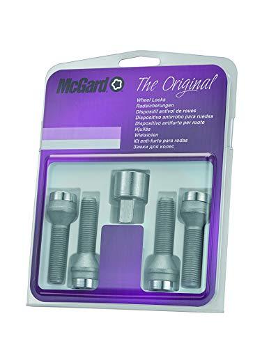 McGard 27209SU Standard - Tornillos antirrobo para ruedas (base cónica, M14 x 1,50, longitud del vástago 45,0 mm, SW17)