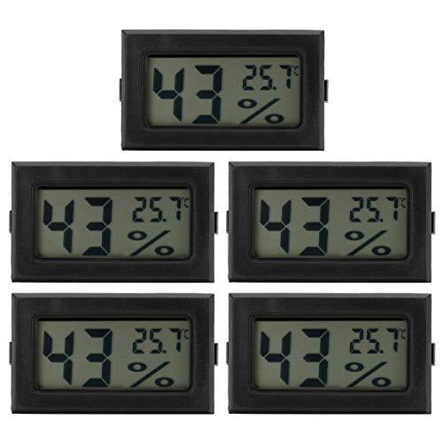 CUTULAMO Termómetro LCD, medidor de Temperatura y Humedad 5% RH Pantalla LCD Digital Mini para el hogar, Sala de Estar, Dormitorio, Oficina