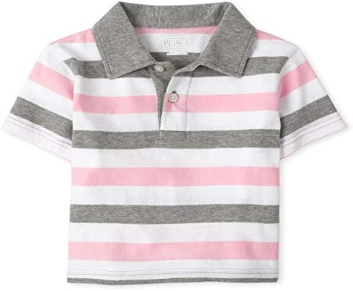 The Children s Place Baby Boys Stripe Polos Rose Pottery 5T product image