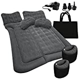 Zone Tech Car Trunk Inflatable Air Mattress - Premium Quality Easy Inflation Air Pump Flocking Surface Back Seat Mattress Thickened Bed with 2 Inflatable Pillows for Travel Camping Family Outing