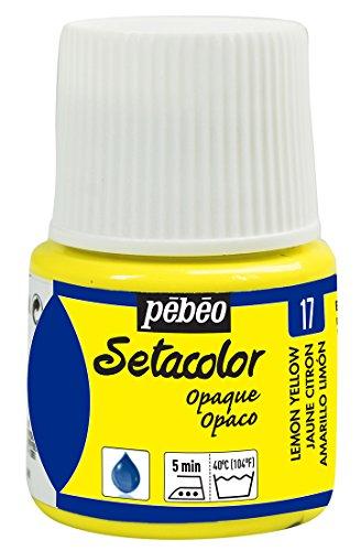 Pebeo Setacolor - Pintura para Tela (Opaca, 45 ml), Color Amarillo