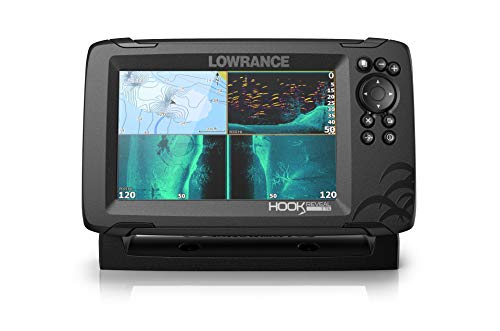 Lowrance Hook Reveal 7 TripleShot - 7-inch Fish Finder with TripleShot Transducer, C-MAP Contour+ Chart Card