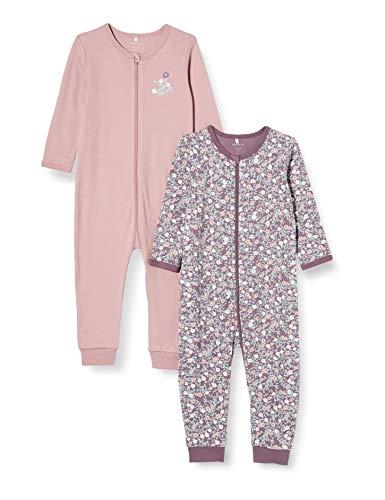 NAME IT Child Schlafanzug 2er-Pack Reißverschluss 56Black Plum