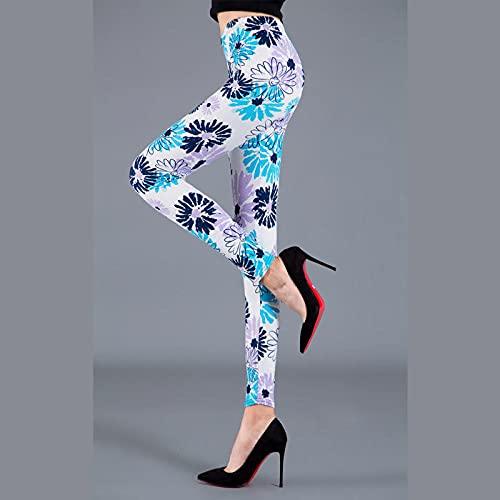 ArcherWlh Yoga Pantaloni Donna,New Rose Print Fashion Leggings Slim Elastic Yoga Pants Nove Pants Leggings-Girasole_Un codice (90-150 kg)