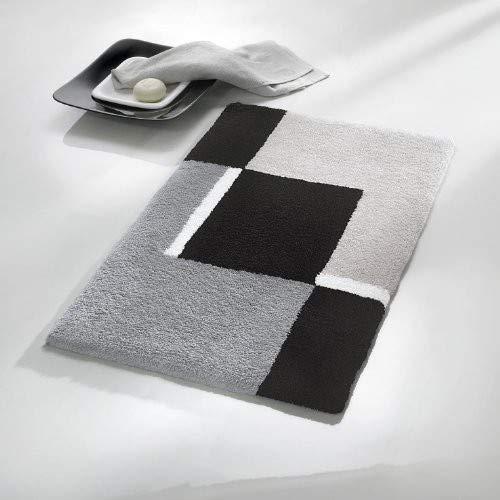 Kleine Wolke 4598977225Dakota Badteppich Polyacryl Platinum, Platin, 70 x 120 cm