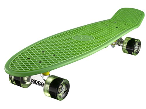 Ridge Skateboard Big Brother Nickel 69 cm Mini Cruiser, grün/klar grün