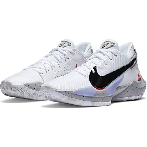 Nike Zapatos Hombre Zoom Freak 2 Blanco Cement CK5424-100, (Blanco/Rojo Universitario/Gris Niebla/Blanco), 45 EU