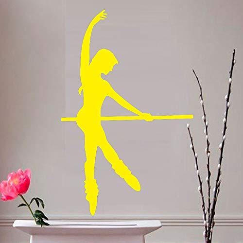 yiyiyaya Wand Dekor Aufkleber Wohnzimmer Sofa Hintergrund Selbstklebendes Vinyl Wandtattoo Dekoration gelb 58 cm X 90 cm