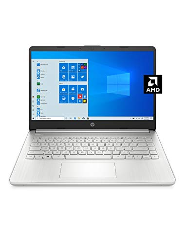 HP 14 Laptop, AMD 3020e, 4 GB RAM, 64 GB eMMC Speicher, 14 Zoll HD Display, Windows 10 Home im S-Modus, lange Akkulaufzeit, Microsoft 365 (14-fq0070nr, 2020)
