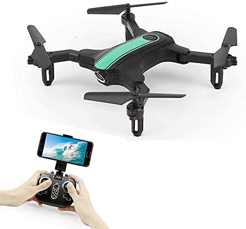 ZHCJH Mini Drone con Fotocamera da 0 3 MP WiFi FPV Altitudine Hold modalità Senza Testa Braccio Pieghevole Portatile Controllo App Mobile per Principianti RTF