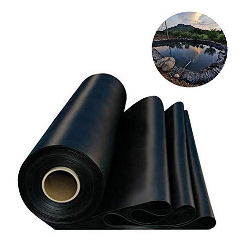Caste Teichfolien Zuschnitt, Premium HDPE Teichfolie Schwarz Teichfolie Für Gartenteich UV-Beständig Reißfest Umweltfreundlich
