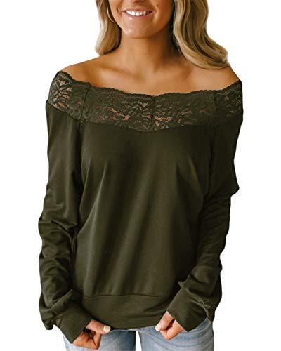 YOINS Blusas de manga corta con hombros descubiertos para mujer, camisetas casuales, cuello de barco