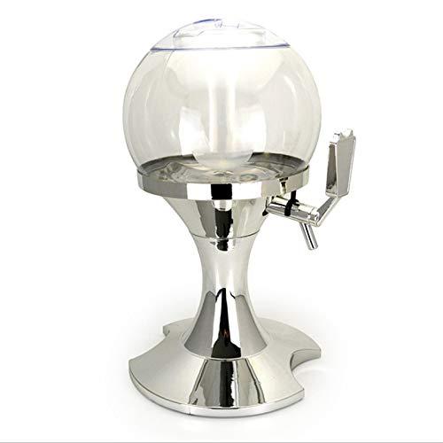 SHENGYUAN Dispensador de cañón de Cerveza esférico de 3,5 L Cubos de Hielo Enfriamiento congelado Cañón de Vino Bar Máquina de Cerveza Torre de Cerveza con carámbanos,Blanco