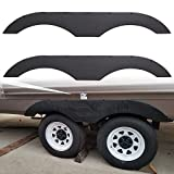 ECOTRIC Tandem Trailer Fender Skirt for RVs Campers and Trailers - Black