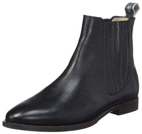 Marc O'Polo Damen Flat Heel 70714155001113 Chelsea Boots, Schwarz (Black), 38 EU