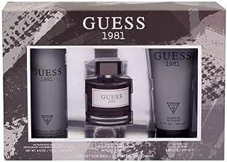 GUESS 1981 Eau de Toilette 100 ml + Shower Gel 200 ml+ Body Spray 226 ml, Gift Set for Men