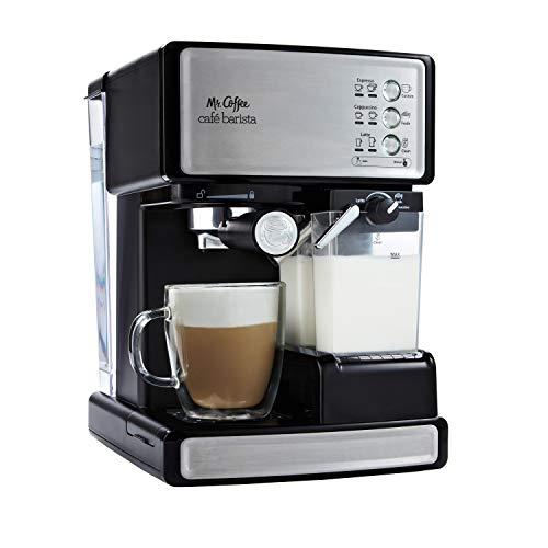 Mr Coffee Espresso and Cappuccino Maker | Café Barista  Silver