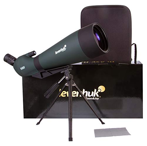 Levenhuk Blaze BASE Portable Spotting Scope with BK7 Glass Optics, Metal Table Tripod and Case for Watching Wildlife, Urban and Natural Landscapes