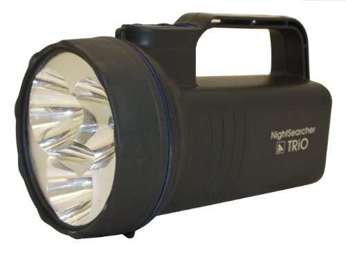 nightsearcher Trio LED rechargeable lampe torche Handlamp Gris