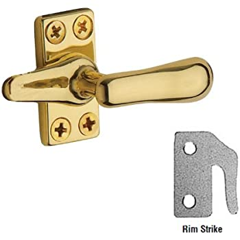 Unlacquered Bright Brass Top Notch Distributors Inc. Baldwin 0495031 Casement Fastener Home Improvement