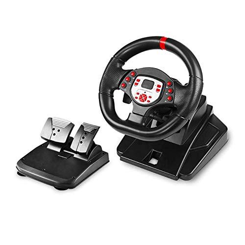 WDLY 180 Degrés Moteur Vibration Au Volant De Jeu Volant De Course, avec Et Vitesse Responsive Pédales Compatible pour PS3 / PS4 / PC/Android/Switch