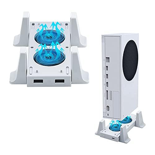 Mcbazel Ventilador para soporte de enfriamiento Xbox Series S con indicador LED / dos puertos USB (solo para Xbox Series S)
