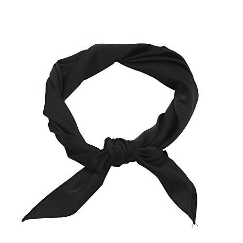 Ruikey Pañuelos Cuello Mujer Bufanda de Seda Chal Cuello Mujer Conveniente Para los Partidos, Playa, Otoño y Uso Diario del Invierno
