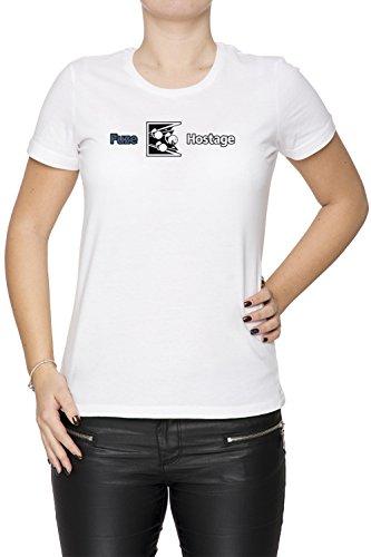 Erido Dont Fuze The Hostage! Donna Girocollo T-Shirt Bianco Maniche Corte Dimensioni XS Women's White X-Small Size XS