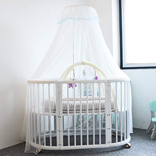 GE&YOBBY verstelbare muggennet, wit babybed, luifel met metalen standaard houder voor babybedje Clip-on beugel