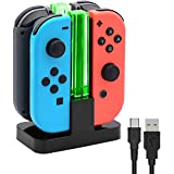 Charging Dock Compatible with Switch Joycon, Charger Stand Station for Nintendo Switch Joy-Con,with Lamppost LED Indication, with a USB Type-C Charging Cord