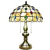 Lámpara De Mesa De Estilo Tiffany con Pantalla De Concha De 11.8 Pulgadas Sala De Estar Dormitorio Cafetería Sala De Estudio Luz De Noche